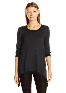 Max Studio Women's Color Blocked Sharkbite Sweater Top