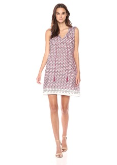 Max Studio Women's Cotton Crepe Sleeveless Dress