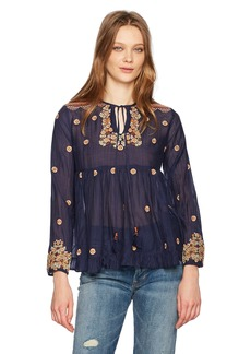 Max Studio Women's Embroidered Rayon Voile Top
