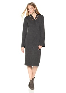 Max Studio Women's Fitted Sweater Dress  L