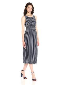 Max Studio Women's Fleck Stripe Jersey Midi Dress