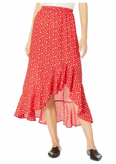 Max Studio Women's Floral Print Ruffle Hem Maxi Skirt