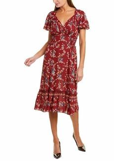 Max Studio Women's Flutter Sleeve Ruffle Midi Dress
