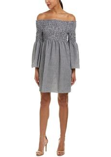 Max Studio Women's Gingham Off The Shoulder Dress  M