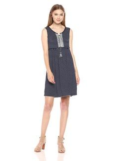 Max Studio Women's Stripe Jersey Sleeveless Dress