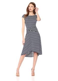 Max Studio Women's Knit Cap Sleeve Hi-Lo Dress