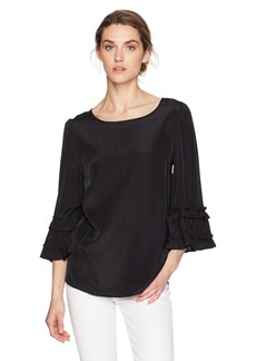 Max Studio Women's Long Ruffle Sleeve Blouse  S