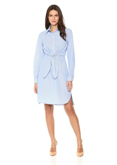 Max Studio Women's Long Sleeve Cotton Shirt Dress  M