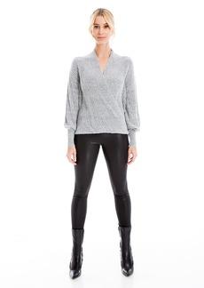 Max Studio Women's Long Sleeve Cross Over Sweater