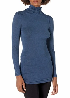 Max Studio Women's Long Sleeve Neck High Twist Jersey Top