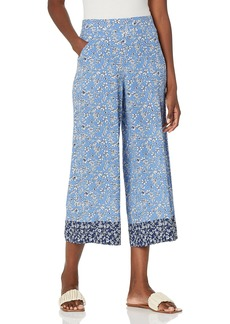 Max Studio Women's Misses Crepe Cropped Wide Leg Pant  Extra Small