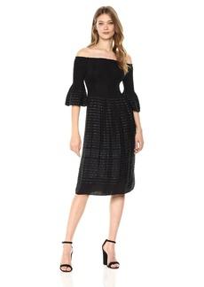 Max Studio Women's Off The Shoulder Jacquard Dress  S