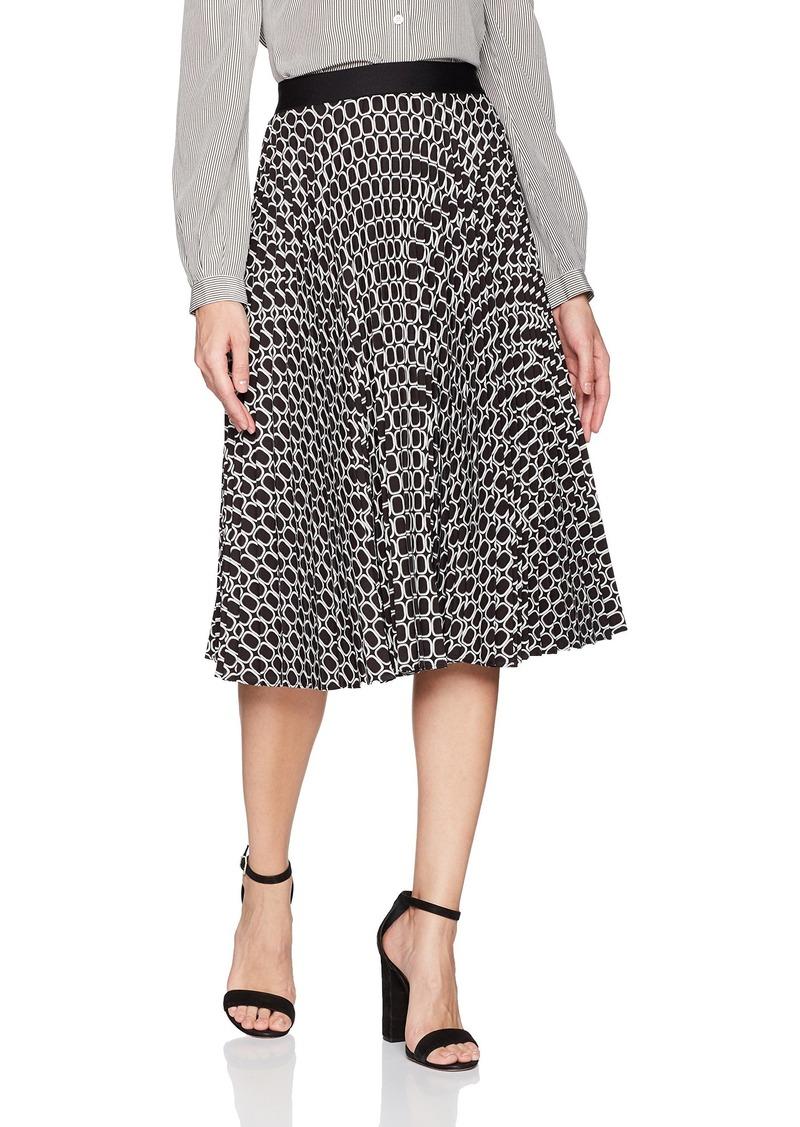 Max Studio Women's Pleated Midi Skirt  L