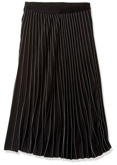 Max Studio Women's Pleated Stripe Skirt