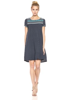 Max Studio Women's Printed Matte Jersey Shirt Dress