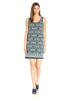Max Studio Women's Printed Matte Jersey Sleeveless Dress