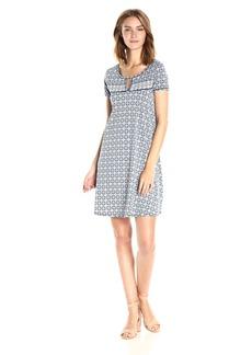 MAXSTUDIO Max Studio Women's Printed Matte Jersey T-Shirt Dress