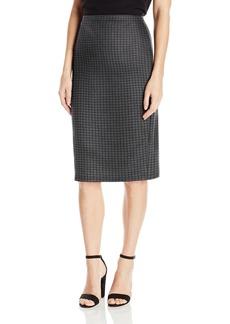 Max Studio Women's Printed Ponte Midi Skirt