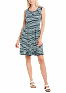 Max Studio Women's Printed Sleeveless Fit and Flare Dress  Extra Small