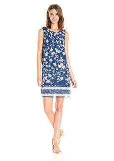 MAXSTUDIO Max Studio Women's Printed Sleeveless Pleated Georgette Dress
