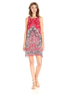 Max Studio Women's Printed Sleeveless Trapeze Dress