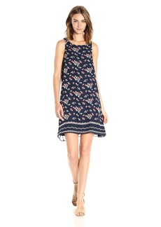 Max Studio Women's Printed Sleeveless Trapeze Dress