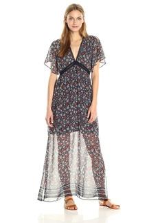 Max Studio Women's Printed V Neck Maxi Dress