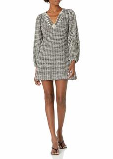 Max Studio Women's Puff Sleeve Quarter Shift Dress