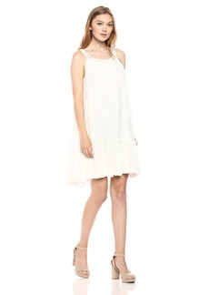 Max Studio Women's Shadow Dobby Sleeveless Dress Off