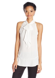 Max Studio Women's Sleeveless Blouse with Tie