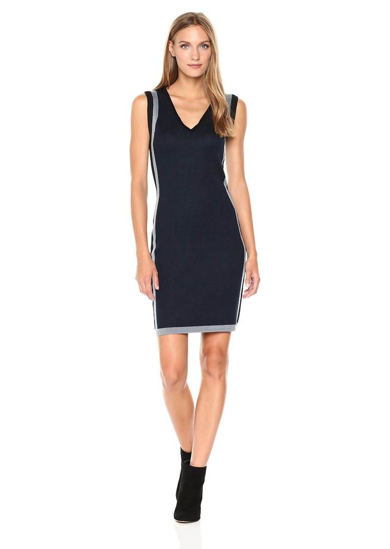 Max Studio Women's Sleeveless Body Con Sweater Dress