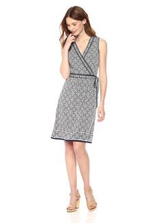 Max Studio Women's Sleeveless Jersey wrap Dress  Extra Large