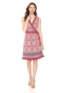 Max Studio Women's Sleeveless Jersey Wrap Dress  Extra Small
