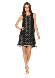 MAX STUDIO Women's Sleevless Printed Trapeze Dress  XS
