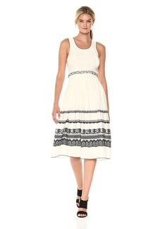 Max Studio Women's Smocked Jacquard Dress