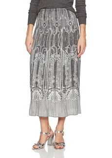 Max Studio Women's Smocked Jacquard Skirt  XL
