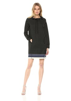 MAX STUDIO Women's Soft French Terry Long Sleeve Dress  S