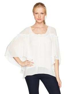 Max Studio Women's Solid Poncho Blouse