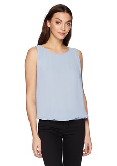 Max Studio Women's Solid Sleeveless Bubble Top with Pleat Detail  XS