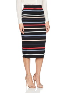 Max Studio Women's Stripe Ponte Midi Skirt