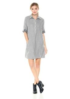 Max Studio Women's Ticking Stripe Dress  L