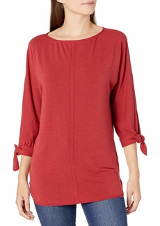 Max Studio Women's Tie Sleeve French Terry Tunic