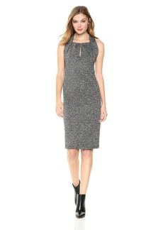 Max Studio Women's Tweedy Ponte Dress  L
