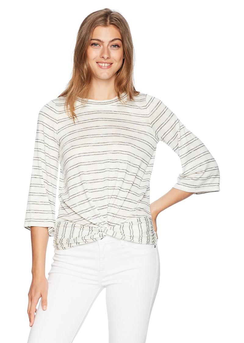Max Studio Women's Twist Front Stripe Top  M