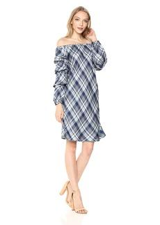 Max Studio Women's Woven Plaid Sleeveless Dress  XL