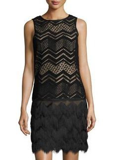 Max Studio Zigzag Fringe Dress