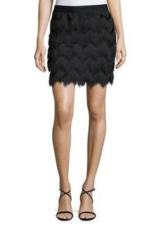 Max Studio Zigzag Fringe Skirt