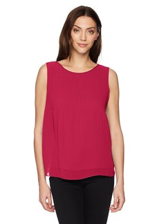 Max Studio Max tudio Women's olid leeveless Top with Pleats angria