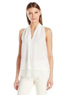 MAXSTUDIO Max Studio Women's Embroidery Sleeveless Blouse White/White L