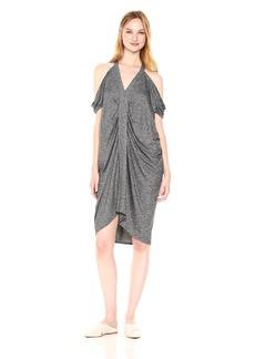 Max Studio Women's End Cold Shoulder Dress Black/Ivory